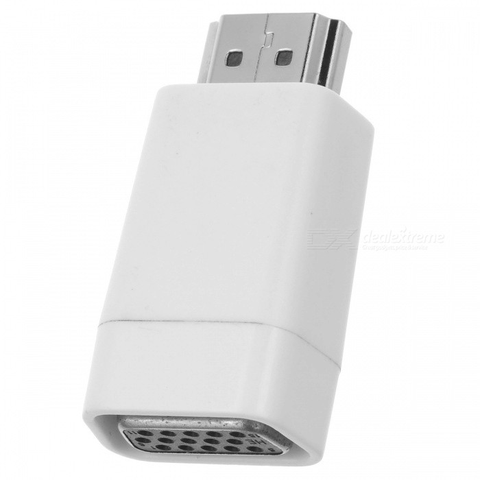 BSTUO ABS HDMI Male to VGA Female Converter / Adapter - White