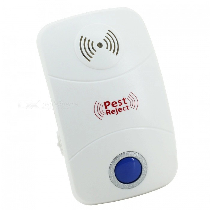 Electronic Ultrasound Pest Mouse Repeller w/ LED Lights - White