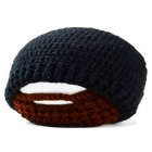Outdoor Sports Winter Men's Beard Covered Knitted Hat - Black