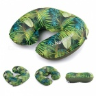 Naturehike U Shaped Travel Air Inflatable Cushion Neck Pillow - Green