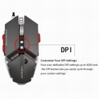 LUOM G50 4000dpi LED Optical USB Wired Mechanical Gaming Mouse - Grey