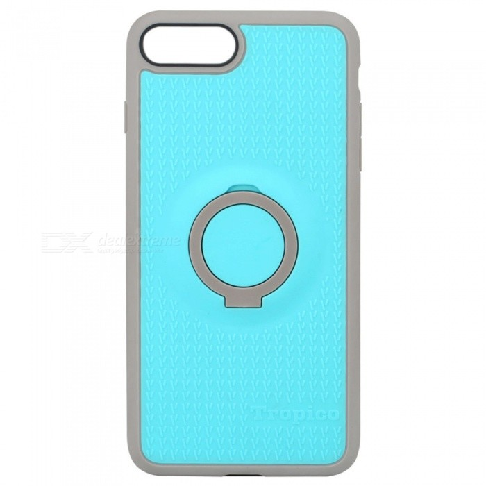 Benks Magnetic Protective Case w/ Ring Stand for IPHONE 7 PLUS - BluePlastic Cases<br>Form  ColorBlue GreyModelTropicoQuantity1 DX.PCM.Model.AttributeModel.UnitMaterialTPU + PCCompatible ModelsiPhone 7 PLUSDesignMixed Color,With Stand,Special ShapedStyleBack CasesCertificationRoHSOther FeaturesBenks 4 in 1 case combines elegant colors and design with functional features for you.<br>The ring can not be turned 360 degrees.<br>The ring phone stand is made of PC material<br>PROTECTIVE &amp; ANTI-SCRATCH: Shock Absorbing &amp; Scratch resistant for small drops &amp; raised lip edge protects the front screen and the cameraPacking List1 * Case<br>
