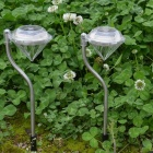 MLSLED Solar Power LED White Light Diamond Style Lawn Decorative Lamps