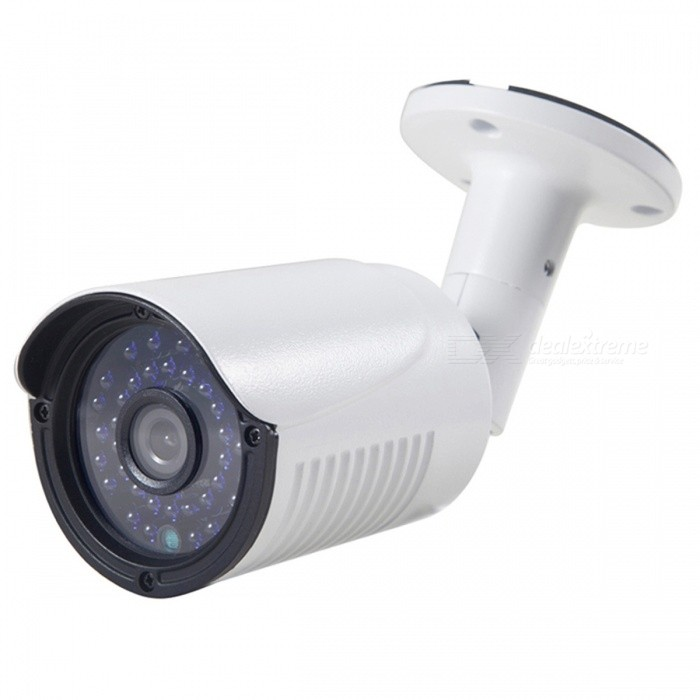 COTIER 1080P 2.0MP AHD Bullet Camera w/ 3.6mm 1/2.7 CMOS CamCCTV Cameras<br>Form  ColorWhiteModelTV-632H2/AMaterialAluminumQuantity1 DX.PCM.Model.AttributeModel.UnitImage SensorCMOSImage Sensor SizeOthers,1/2.7 InchPixels1080PPicture Resolution1920*1080Lens3.6mmViewing Angle90 DX.PCM.Model.AttributeModel.UnitVideoAVIDaytime20mElectronic Shutter Speed1/50s~1/100,000sMinimum Illumination0.01LuxImaging ColorColorVideo / Audio Compression FormatVideo Compression: NO<br>Audio Compression: NOInterfacesVideo Output: AHD TVI CVI CVBS 1.0Vp-p75<br>Audio, Alarm Input Output/Network Interface/Control Interface: NoNight VisionYesIR-LED Quantity36Night Vision Distance20 DX.PCM.Model.AttributeModel.UnitWireless / WiFiNoVideo SystemPALMotorNoWireless ReceivernoSNR50dBWater-proofYesPower AdaptorYesPower AdapterEU PlugRate Voltage12VRated Current1 DX.PCM.Model.AttributeModel.UnitBuilt-in MicrophoneNoFunctionIRCertificationCE FCPacking List1 x AHD Camera (34-37cm)1 x Power adapter (110 cm) 1 x User Manual1 x Screw Set<br>