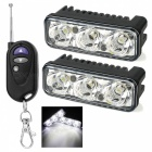 exLED 9W 3-LED Car DRL Daytime Running Lights Cool White (2PCS)