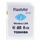 Toshiba 8GB Flash Air Wireless SD Card (Class 10) New version
