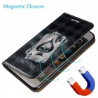 BLCR 3D Embossed Poker Pattern Magnetic PU Holder Case for IPHONE 7