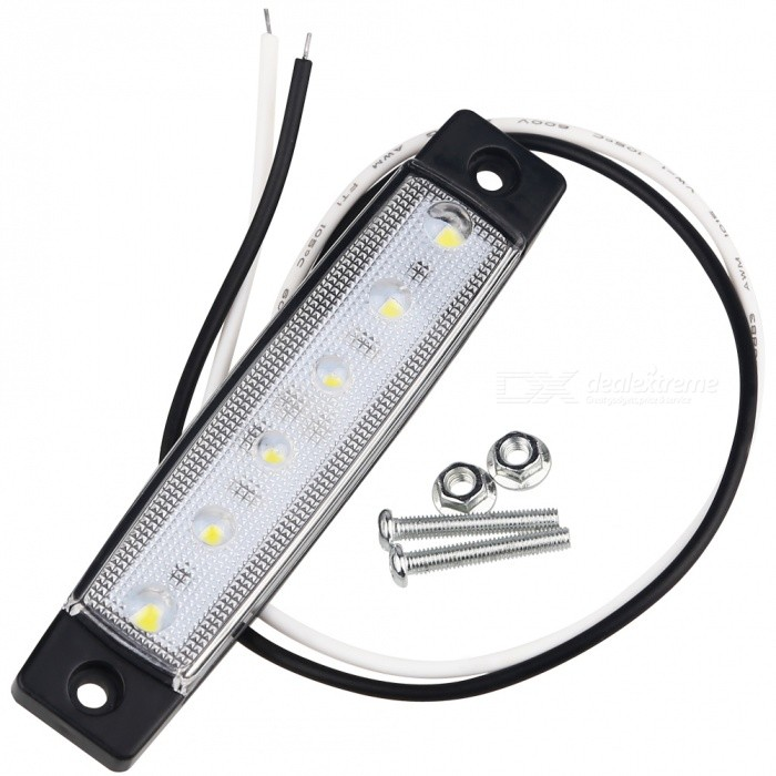 6-LED 3W 300lm Cold White Side Front Marker Indicators Lamps for Truck