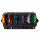 5A, 10A, 15A, 20A, 25A, 30A  6 Way Fuse Box Holder Block w/ Fuses for 12V / 24V Car / Truck