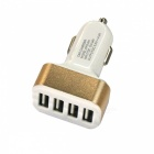 4-Port USB 12~24V 4.2A Fast Charging Car Charger for Mobile Phone
