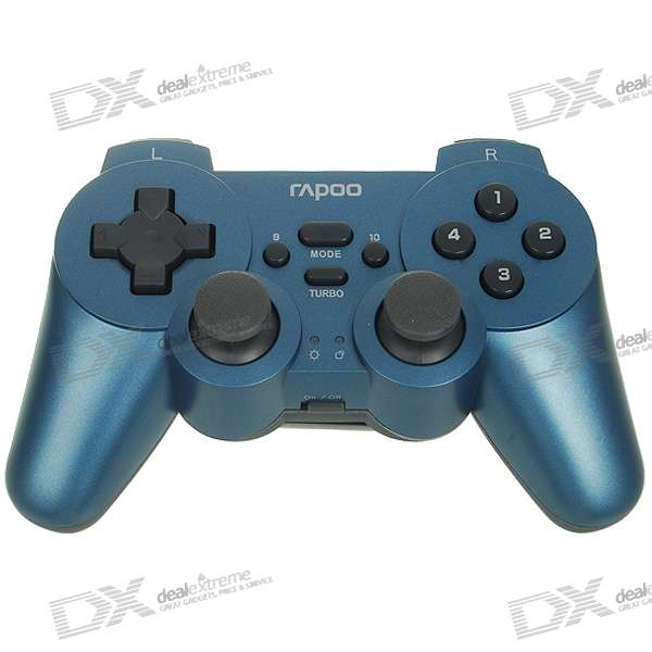 2.4GHz Wireless Dual-Shock Joypad Controller Gamepad for PC (2*AA)