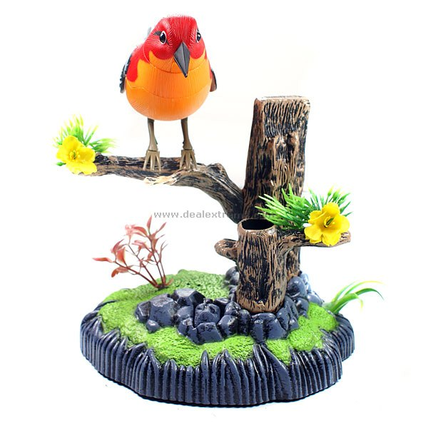 Sound Activated Heartful Bird new 50w 150db electronics hunting mp3 bird caller sounds player decoy built in 200 mp3 bird sound bird caller with timer