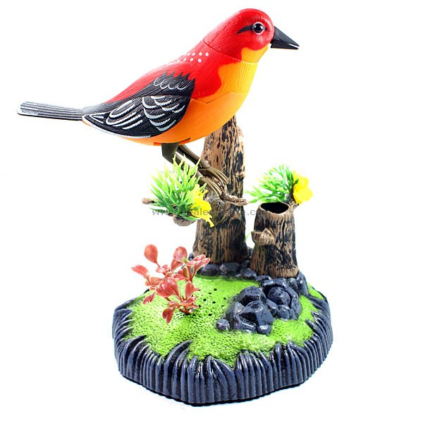1 Set Sound Activated Heartful Bird Lovely Security Toy