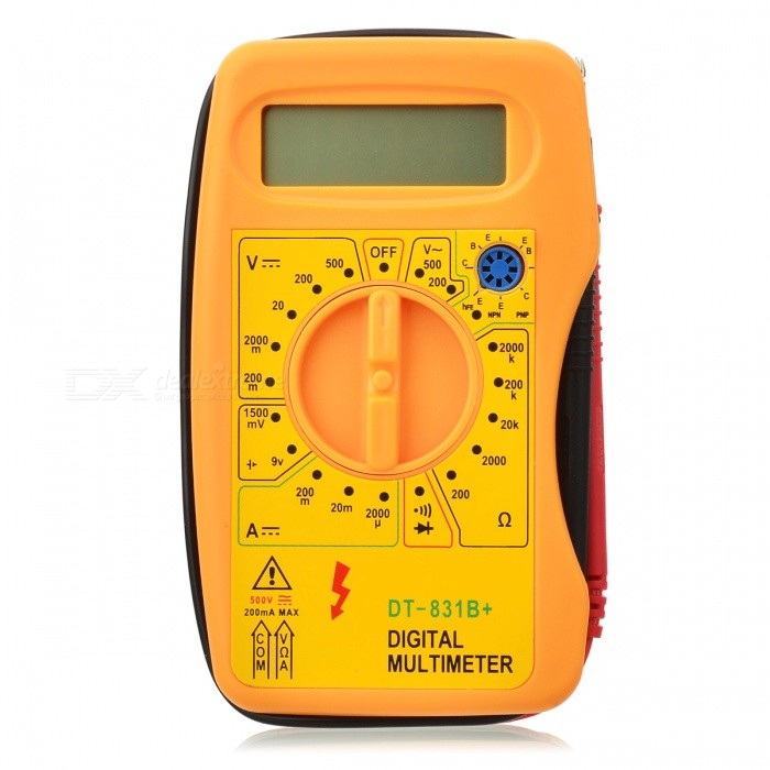 "Mini 2,5"" LCD Digital Multimeter - gelb (1 * 6F22 Batterie)"