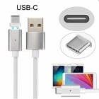 CY U2-349 USB-C Type-C to USB Male Magnetic Charging Cable (1m)