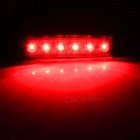 YWXLight 3W 12V 6-LED Red Light Side Lamps for Truck, Bus (2PCS)