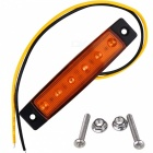 YWXLight 3W 24V 6-LED Orange Light Side Lamps for Truck, Bus (2PCS)