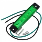 YWXLight 3W 24V 6-LED Green Light Side Lamps for Truck, Bus (2PCS)