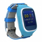"1.44"" Touch Screen Smart Watch w/ SOS Call, Google Map - White + Blue"