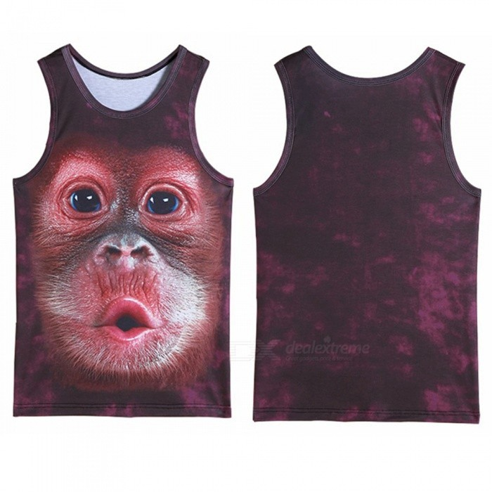 3D Printing Of Orangutan Monkey Sports Sleeveless Vest for Men (M)