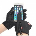 Touch Windproof Riding Outdoor Sports Full Finger Gloves - Black (L)