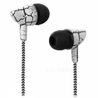 JEDX Universal 3.5mm In-ear Wired Earphone w/ Mic - White + Black
