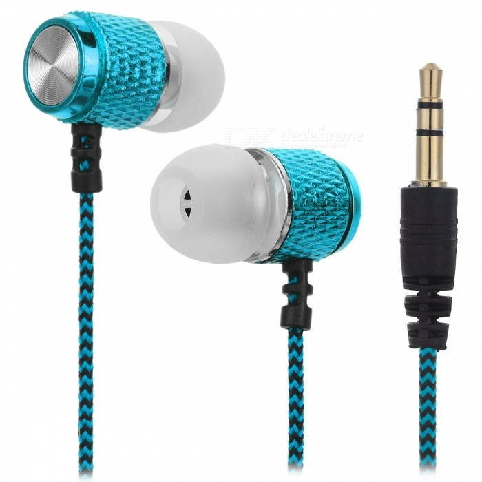 HARLEM 3.5mm Wired In-Ear Headphone for Audio - Sky Blue + Black
