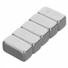 JEDX Strong Rectangle Shaped NdFeB Magnets - Silver (5PCS)