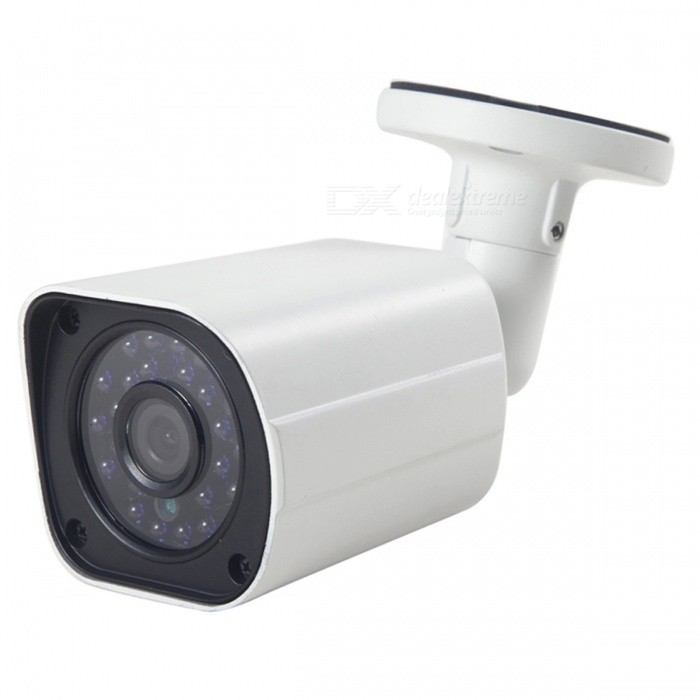Cotier 960P CCTV AHD Camera w/ 24-LED IR Night Vision - White + BlackCCTV Cameras<br>Form  ColorWhite + BlackModelTV-636L/AMaterialAluminum alloyQuantity1 DX.PCM.Model.AttributeModel.UnitImage SensorCMOSImage Sensor SizeOthers,1/3 inchesPixels960PPicture Resolution1280 * 960Lens3.6mmViewing Angle90 DX.PCM.Model.AttributeModel.UnitVideoAVIDaytime15MElectronic Shutter Speed1/50s~1/100,000sMinimum Illumination0.01LuxImaging ColorColorVideo / Audio Compression FormatVideo Compression: No<br>Audio Compression: NoInterfacesVideo Output: AHD TVI CVI CVBS 1.0Vp-p75<br>Audio, Alarm Input Output/Network Interface/Control Interface: NoNight VisionYesIR-LED Quantity24Night Vision Distance15 DX.PCM.Model.AttributeModel.UnitWireless / WiFiNoVideo SystemPALMotorNoWireless ReceivernoSNR50dBWater-proofNoPower AdaptorYesPower AdapterEU PlugRate Voltage12VRated Current1 DX.PCM.Model.AttributeModel.UnitBuilt-in MicrophoneNoFunctionIRCertificationCE FCPacking List1 * AHD camera (34-37 cm)1 * Power adapter (110 cm)1 * User manual1 * Screw set<br>