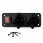 IZTOSS DC 12V Car Switch Power Socket w/ Digital LED Voltmeter