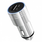 OURSPOP BC01 Bluetooth MP3 Car Charger w/ Safety Hammer, Mic - Silver