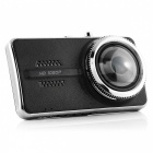 "Novatek96658 Y900 1296P 4"" TFT Car DVR w/ Twin Lens - Black + Silver"