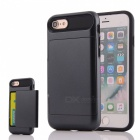 Box Series PC + TPU Back Case w/ Card Slot for IPHONE 7 - Black