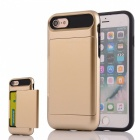 Box Series PC + TPU Back Case w/ Card Slot for IPHONE 7 - Golden