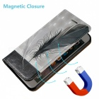 Luxury 3D Embossed Magnetic Leather Holder Case for IPHONE 7 Plus