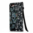BLCR 3D Embossed Skull Pattern Magnetic Leather Case for IPHONE 7