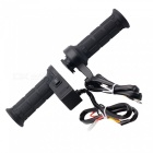 QooK 22mm PC & Metal Electric Adjustable Heated Molded Grips - Black