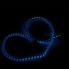 Type-C Male to USB Male Lighting Charging Data Cable (Blue Light)