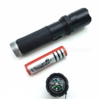 Outdoor Camping 3-Mode LED Strong Flashlight w/ Compass Function