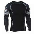 3D Printing Fast-Drying Long-Sleeved Tight-Fitting Men's T-shirt (L)