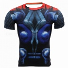 Multi-functional Polyester Short-sleeved Men's Shirt for Cycling, Cartoon Printing, Round Shape Neck