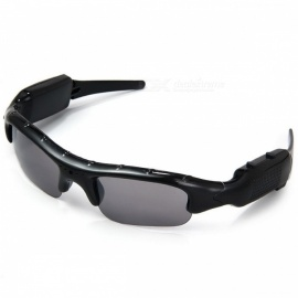 Jtron Outdoor Sports Sunglasses w/ Recording - Black (US Plugs)