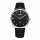 Alloy + Artificial Leather Analog Men's Quartz Wrist Watch w/ 12h Format for Business, Leisure