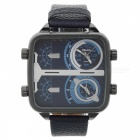 Fashion Stainless Steel + Alloy Square Analog Men's Quartz Watch