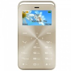 GT GS6 Slim Mini Bluetooth GSM Phone w/ TF Card Slot & FM - Golden