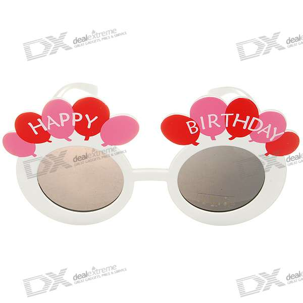 Cute Balloons UV400 UV Protection Party Glasses (Color Assorted)