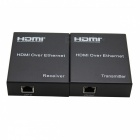 120M HDMI RJ45 Single Cable Network Signal Extender - Black
