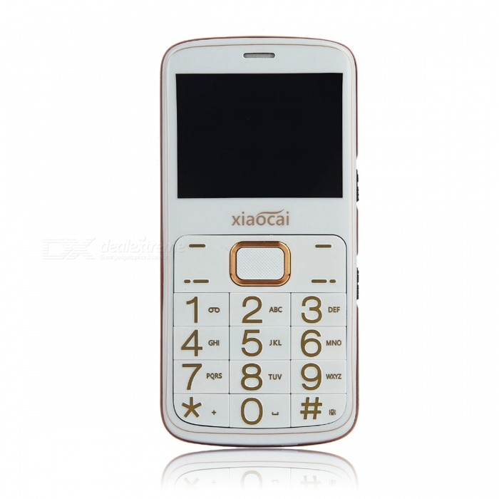 XIAOCAI A600 2.31 GPS GSM Mobile Phone w/ 64MB + 64MB - WhiteFeature Phones<br>Form  ColorWhiteModelA600MaterialABSQuantity1 DX.PCM.Model.AttributeModel.UnitShade Of ColorWhiteNetworkingGSMFrequencyGSM 850/900/1800/1900MHzData TransferGPRSSIM TypeOthers,1 * Standard SIM,1 * Micro SIMSIM Slot2Network StandbySingle StandbyNetwork ConversationOne-Party Conversation OnlyGPSYesWi-FiNoTypeBrand NewOperating SystemN/ACPU ProcessorMTK6261ACPU Core QuantitySingle CoreLanguageEnglish, French, Portuguese, PolishItaliano,Deutsch,Czech,Dutch , Russian,ArabicHebrew, Greek,RomanianTime of Release2016-12-15RAM64MBROM64MBAvailable Memory20MBMemory CardSupports 8GB TF cardScreen Size2.31 DX.PCM.Model.AttributeModel.UnitTouch Screen TypeNoScreen Resolution240 * 320Main Camera Lens Features0.3MPFlashNoTouch FocusNoBattery Capacity1350 DX.PCM.Model.AttributeModel.UnitBattery TypeLi-ion batteryTalk Time10 DX.PCM.Model.AttributeModel.UnitStandby Time300 DX.PCM.Model.AttributeModel.UnitWorking Time12 DX.PCM.Model.AttributeModel.UnitBluetooth VersionBluetooth V2.0TVNoRadio TunerYesSensorNoI/O InterfaceMicro USB,3.5mmFormat SupportedMP3, MP4Packing List1 * Phone1 * 1350mAh battery1 *  Adapter1 * Data cable1 * User manual<br>