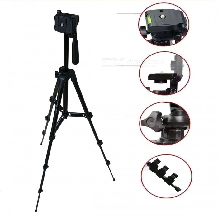 Ismartdigi i3120-BK Mobile Stand 4-Section Camera Tripod - BlackTripods and Holders<br>Form ColorBlackMaterialAluminum alloyQuantity1 DX.PCM.Model.AttributeModel.UnitTypeTripodRetractableNoScrew Size1/4Full Size 35 * 8 * 8 DX.PCM.Model.AttributeModel.UnitRing Diameter4Min.Height35 DX.PCM.Model.AttributeModel.UnitMax.Height106 DX.PCM.Model.AttributeModel.UnitMax.Load2000 DX.PCM.Model.AttributeModel.UnitSection Number4Packing List1 * Tripod1 * Mobile stand<br>
