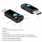 Bluetooth USB Music MP3-mottagare Adapter Bil Handsfree Ring-Svart